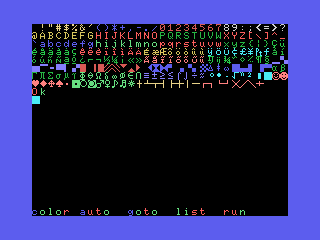 Colored text on MSX - BASIC (SCREEN 1)
